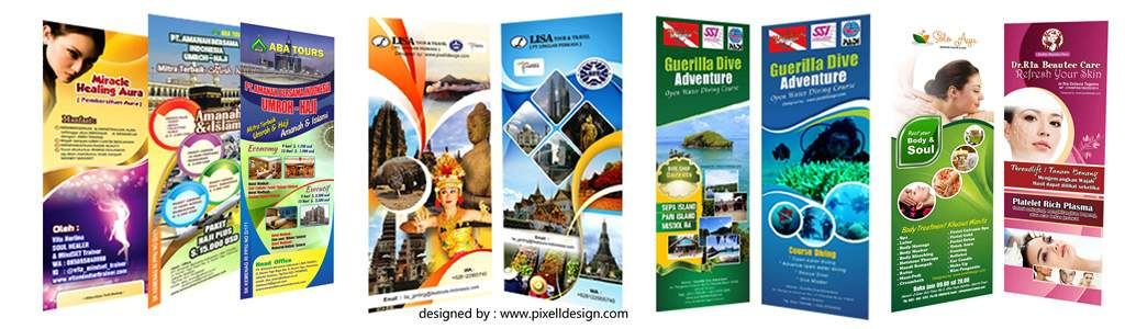 contoh desain stand roll x banner