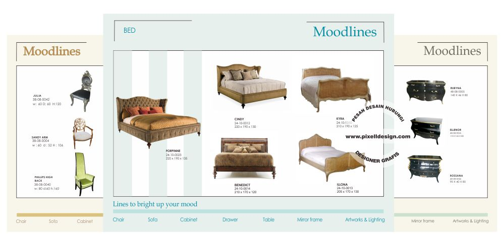 desain katalog iklan produk furniture kontemporer Katalog Furniture