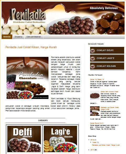 design website peniladia coklat kiloan